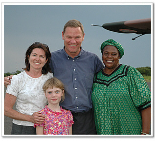 Co-founders Rick and Elaine Little with their daughter Sarah and Ambassador Lewanika.